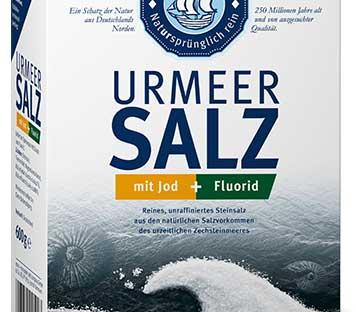 Salzpackung mit Jod und Fluorid